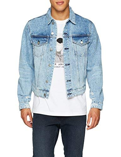Cheap Monday Legit Jacket Giacchetto Denim, Blu (Pixel Blu), S Uomo