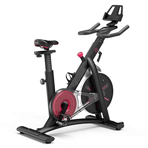 YourBooy Bicicleta De Ejercicio Profesional para Interiores Bicicleta De Spinning para El Hogar, Entrenador De Cardio Ideal, con Resistencia, Función De Frecuencia Cardíaca, Pantalla LCD