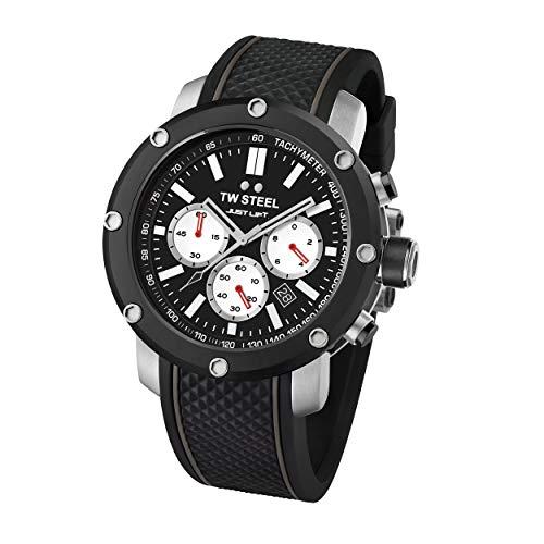 TW Steel Unisex Erwachsene Chronograph Quarz Uhr mit Silikon Armband TS11