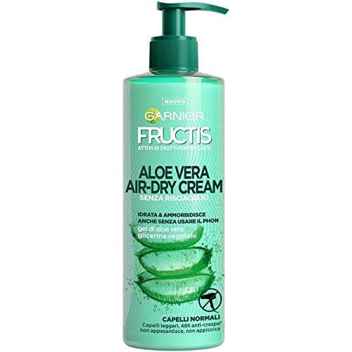 Garnier Fructis Aloe Vera Air-dry Cream con Glicerina Vegetale e Gel di Aloe Vera, 400 ml