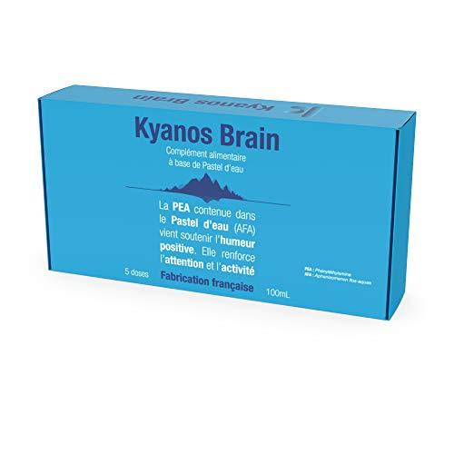 Kyanos Brain | Phycocyanine AFA Klamath | Extrait de Pastel d'eau | 20 doses | Agit sur la Mémoire la Concentration et l'Humeur | Nootropique +10% d'Activité Neuronale | Cultivée en France