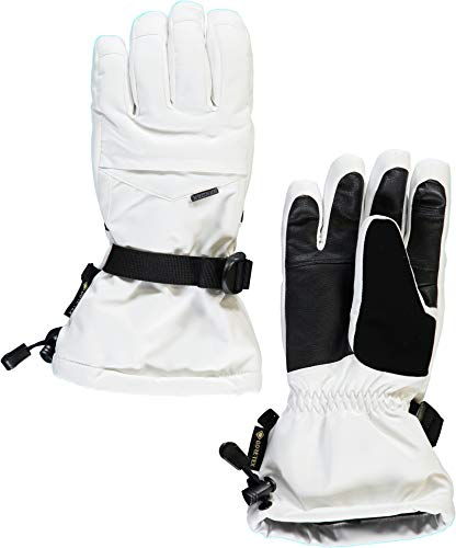 SPYDER Synthesis GTX Guantes esquí/Snow, Mujer, White, XS
