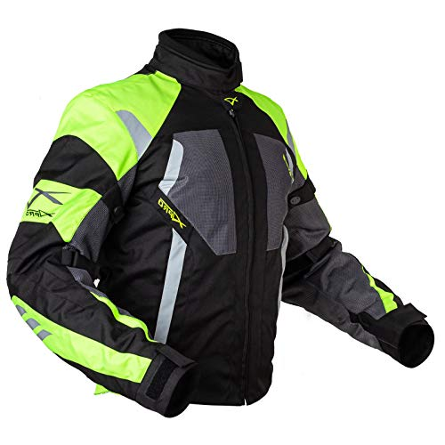 A-Pro Motorrad Textiljacke Mesh Touring Jacke Sommer CE Protektoren Fluo XXL