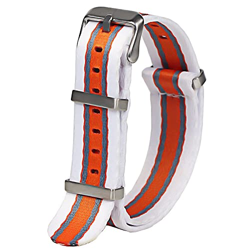 Reloj de Bolsillo Reloj Band Correa Premium Calidad Herringbone 20mm 22mm Asiento de cinturón de Seguridad Correa de Nylon para Reloj Militar Reloj de Bolsillo de Cuarzo