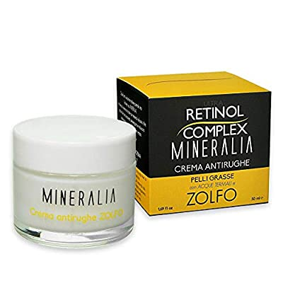 Ultra Retinol Complex Anti-Wrinkle Face Cream for Oily Skin with Thermal Water and Sulfur - 50 ml by Dermacos