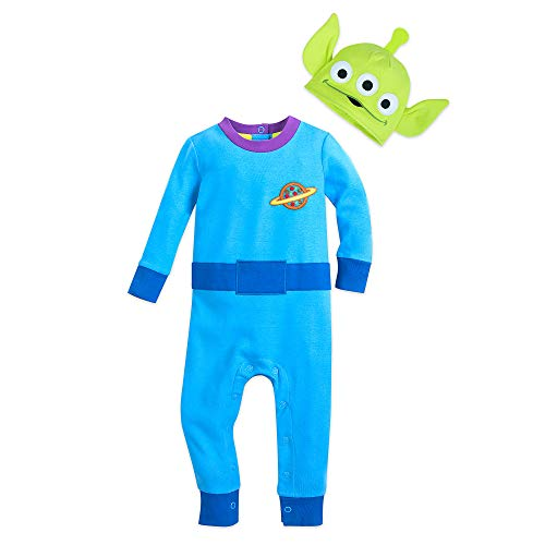 Disney Toy Story Alien Stretchie Sleeper and Hat for Baby Size 12-18 MO Multi