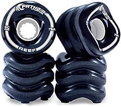 Fathom by Shark Wheel 60MM Reef 4-Piece Innovative Skateboard Wheel Set, Black