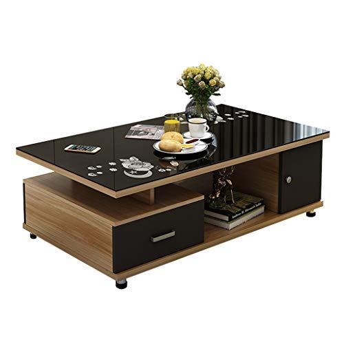 Xu-table rechthoekige tafel, kleine woning woonkamer fruit opslag tafel, kantoor koffie werkbladen bureau, gehard glas