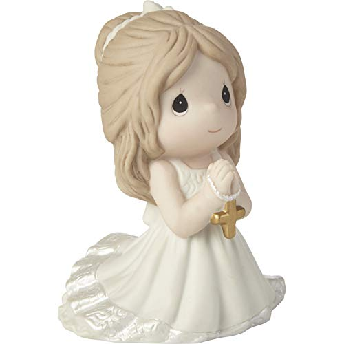 Precious Moments 202017 Remembrance of My First Communion Girl Bisque Porcelain Figurine, One Size, Multicolored