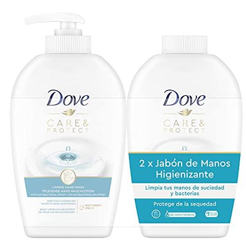 Dove Cuida y Protege Jabón de Manos con Dosificador y Recambio 250 ml x2