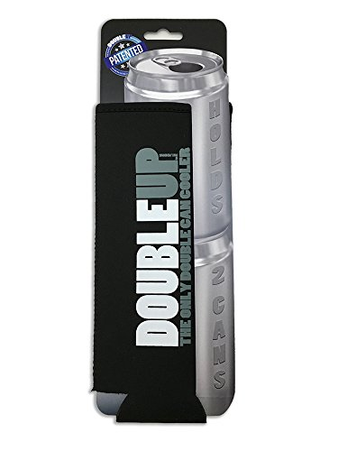 DoubleUp, Double Can Cooler (Black) - The Can Cooler that Holds Two...