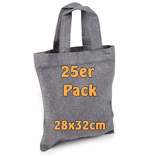 Cottonbagjoe | kleine Apothekertasche | perfekt zum Bemalen | Jutebeutel | Geschenktasche | unbedruckt | Bauwolltasche | DIY | 22x26cm | kleine Baumwolltasche zum Basteln