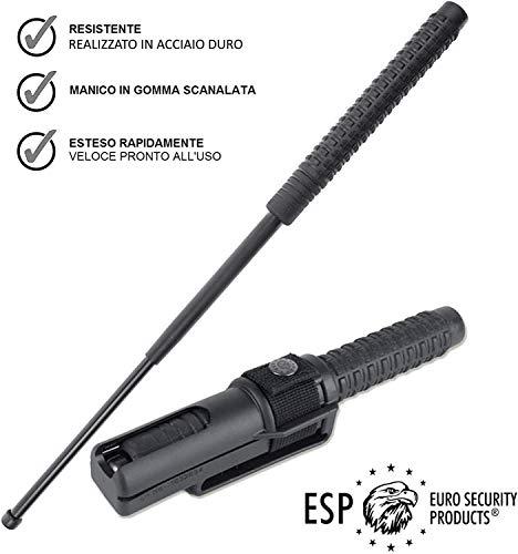 ESP Bastone autodifesa telescopico, Manganello Estensibile per Uso privato e Professionale, 2 Dimensioni(Lungho: 21-53cm (440 Grammi))