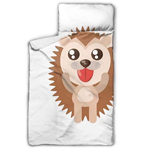 UGDFJYV Ugly Hedgehog Cartoon Nap Mats Cots Kids Daycare avec Couverture et Oreiller Rollup Design Idéal pour Les garderies préscolaires Sleepovers 50\