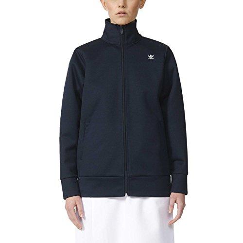 adidas Damen W Hyke Track Top Hoodie Sweatshirt, Blau (Navy Aj5459), (Herstellergröße: 32)