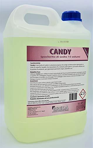 Candy 5 litri Candeggina ipoclorito di sodio 15 Volumi Super concentrazione al 12% Litri Deterdem Shop