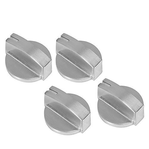 OUKENS Perilla de Control de Estufa de Gas, 4 Piezas Perilla de Control de Estufa de Gas de aleación de Zinc Universal Accesorio de Repuesto de Interruptor Giratorio para Estufa de Horno