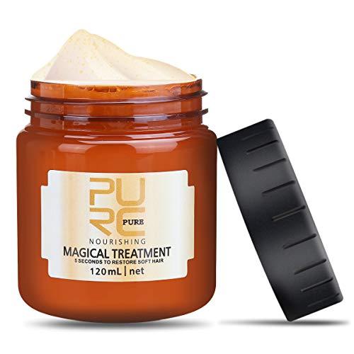 Charminer Masque Capillaire Traitement Magique 120ml, Hair Masque Cheveux, pour Les Cheveux Secs et Abîmés, Masque Capillaire Réparateur en Profondeur (Marron)
