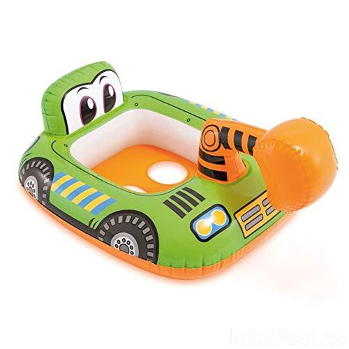 INCOOP Cartoon Schwimmen Pool Bagger Aufblasbare Kreis Kind Flugzeug Schwimmen Ring Feuer LKW Sitz Pool Float Wasser Spielzeug