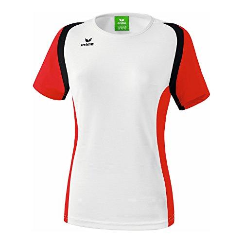 erima Damen T Shirt Razor 2.0, Weiß/Rot/Schwarz, 46, 108615