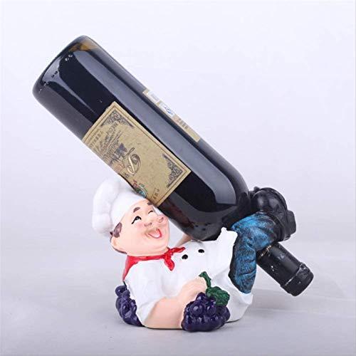 TUHFG Estante de vino para vino, decoración de estatua de resina, para decoración de hogar, sala de estar, gabinete de vino, decoración de estante de vino (sin botellas de vino)