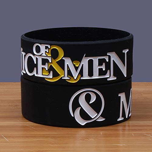 ZJZ AMZ mice of man heavy metal band silicone bracelet concert wristband band series (Color : Black)