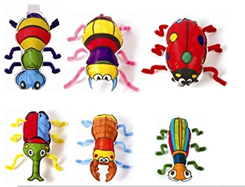Gift Expressions 6 Design Colorloon Form Cray Paint Colors On The Balloon Kidscrafts School Art Craft, (Insect, 1 Set)