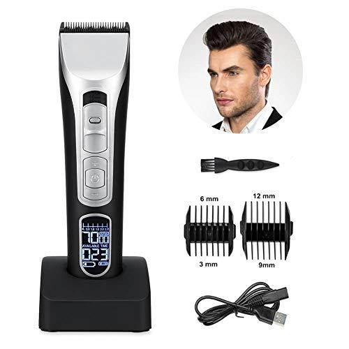 Professionelle Haarschneidemaschine für Männer, zum Vatertagsgeschenk, wasserdicht, kabellos, elektrische Haarschneidemaschine