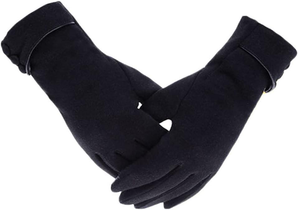 WBDL Women Touch Screen Winter Gloves Autumn Warm Gloves Wrist Mittens Driving Ski Windproof Glove