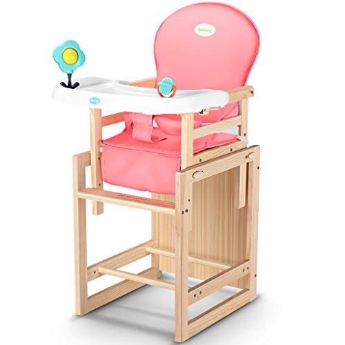 Kinderstoel Effen houten kinderstoel Kinderen eettafelstoelen Kinderstoel Babyboosterstoel Verstelbare hoogte kinderstoel