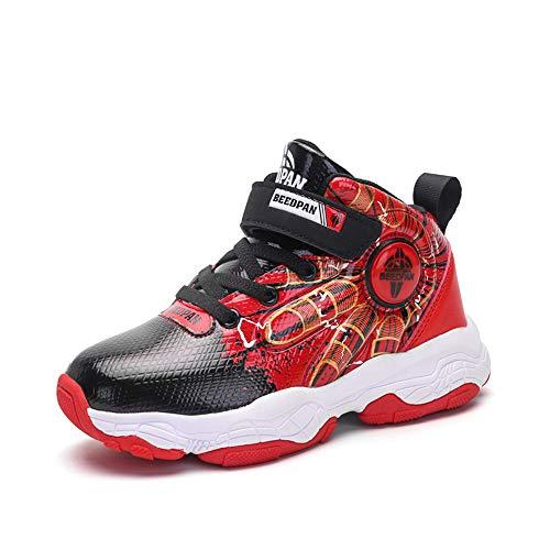 CXQWAN Basketbalschoenen voor kinderen, mode middelbare school kinderen waterdicht hoge top basketbal Sneakers anti-slip demping professionele basketbal trainers