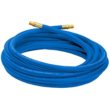 Air Hose, 25 Foot, 3/8 Inch ID, ¼ Inch NPT (M), PVC, Non-marring, 300 PSI (Campbell Hausfeld, PA117701AV)
