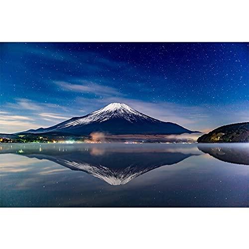 Puzzle 1000 piezas Pintura de paisaje Imagen del monte Fuji puzzle 1000 piezas Rompecabezas de juguete de descompresión intelectual educativo divertido juego familiar para niñ50x75cm(20x30inch)