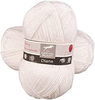 Laines Cheval Blanc - DIANE fil à tricoter 50g - 100% acrylique - Fil pour tricot et crochet - Pelote douce et chaude, idé...