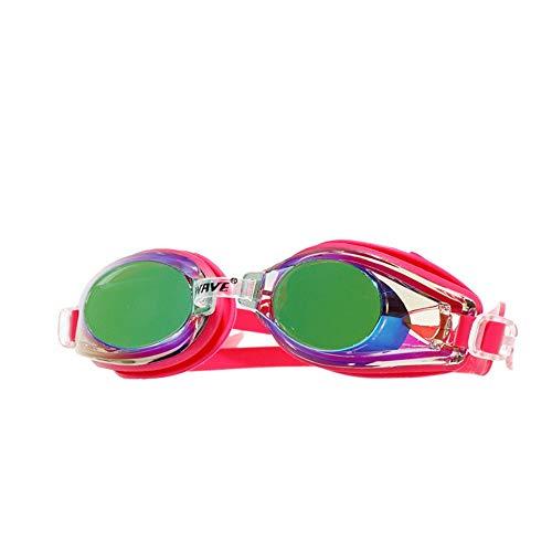 MHP Beschermbril, anti-condens, waterdichte coating, mooie siliconen, geschikt voor alle soorten gezicht, uniseks zwembrillen rood
