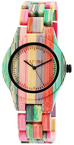 Raptor Reloj Análogo para Señoras de Miyota 2035 con Correa en Madera RA10188-001
