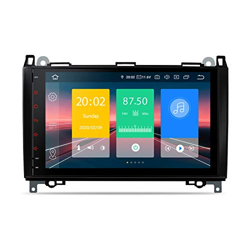 XTRONS Android 10.0 Car Stereo Radio GPS Navigation 9 Inch Touch Screen Slim Design Head Unit Supports Plug and Play WiFi Bluetooth 5.0 Backup Camera DVR OBD2 TPMS for Mercedes Benz W169 W245 W639