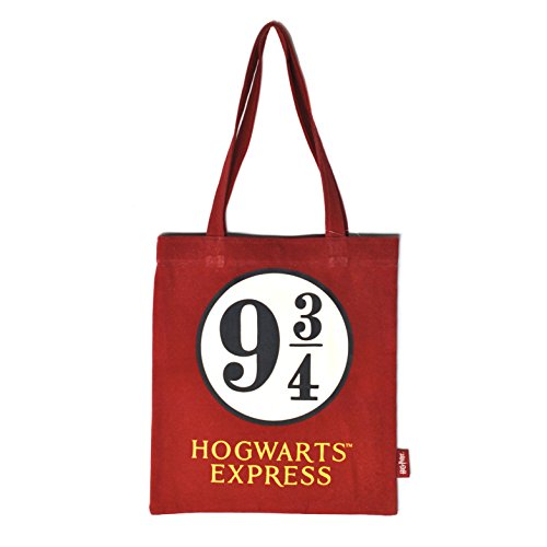 HARRY POTTER Borsa cotone spesa Shopping Bag Platform 9 3/4 Half Moon