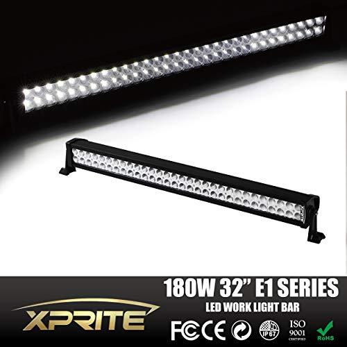 Xprite 30' Led Off Road Led Light Bar Flood/spot Combo Beam- 3w Led-180w