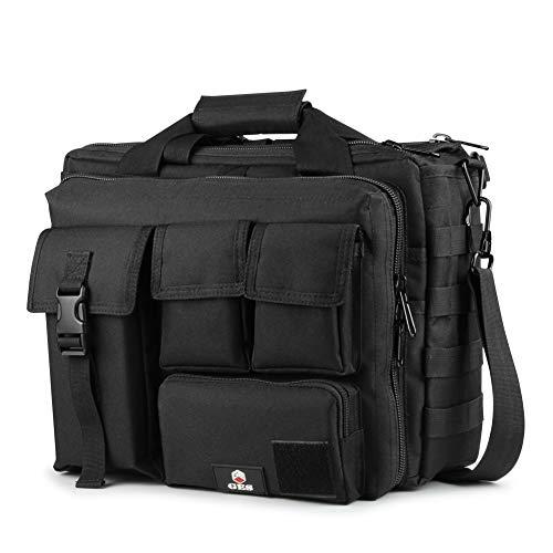 GES Multifunktions Herren Dame im Freien taktischen Nylon Schulter Laptop Messenger Bag Aktentasche Handtaschen groß genug für 15.6