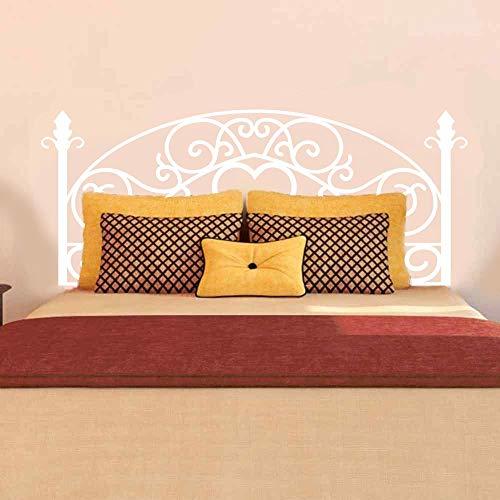 Divertido adhesivo de pared para cabecero de cama, decoración geométrica de dormitorio Shabby Chic Love Heart Abstracto para gemela Full Queen King blanco Twin vinilo adhesivo decorativo para pared