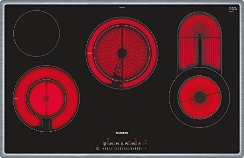 Siemens ET845FCP1D iQ300 Elektrokochfeld / 4 Heizelemente / 79.5 cm / TouchSlider / Kindersicherung / Glaskeramik