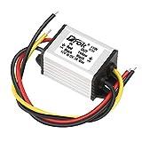 12v to 5v Volt Converter, DROK DC Voltage Regulator Board Power Supply Module, DC 6.3-22V 12 Volt to 5 Volt 3A 15W Waterproof Car Volt Step Down Buck Converter