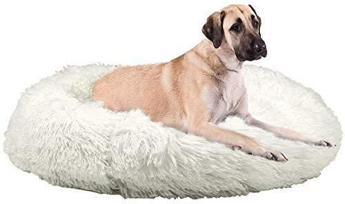 JJYY Sofá de Lujo Suave para Cama para Perros, Lavable, Redondo, de Felpa, para Perros, Cama para Gatos, cojín para Abrazos, para Perros medianos Grandes, Parte Inferior Antideslizante
