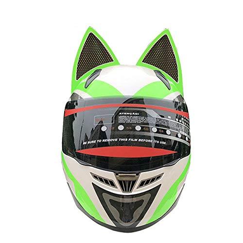MYSdd Motorradhelm männlich weiblich Persönlichkeit Moto Helm Capacete De Moto weiß Integralhelm Casco Moto - grün X XL
