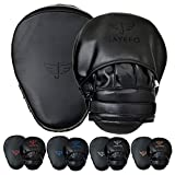 JAYEFO Glorious Punch Mitts Speed Focus Bags Mitts Punching MMA Muay Thai Boxing Pads Target Curved Gloves Training Hand Target for Kids, Youth, Men & Women Kickboxing… (Black)