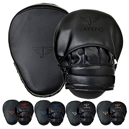 JAYEFO Glorious Punch Mitts Speed Focus Bags Mitts Punching MMA Muay Thai Boxing Pads Target Curved Gloves Training Hand Target for Kids, Youth, Men &...