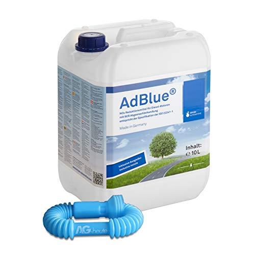 A&G-heute AdBlue 10l Hochreine SCR Harnstofflösung mit Ausgießer Reduktion aus Abgasen von Stickoxiden für alle Automarken im Kanister