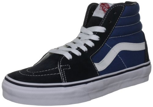 Vans VD5INVY Unisex SK8-Hi Canvas Skate Shoes, Navy/White, 5 B(M) US Women/3.5 D(M) US Men