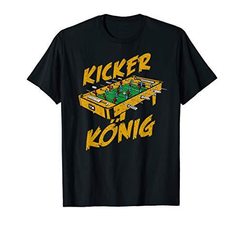 Kicker T-Shirt, Bier und Tischfusball König